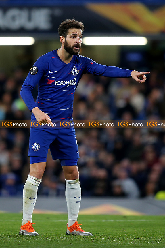 Cesc Fabregas of Chelsea during Chelsea vs MOL Vidi, UEFA Europa League Football at Stamford Bridge on 4th October 2018
