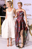 LOS ANGELES, CA, USA - NOVEMBER 17: Jennifer Lawrence, Elizabeth Banks arrive at the Los Angeles Premiere Of Lionsgate's 'The Hunger Games: Mockingjay, Part 1' held at Nokia Theatre L.A. Live on November 17, 2014 in Los Angeles, California, United States. (Photo by Rudy Torres/Celebrity Monitor)