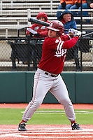 PULLMAN, WA-April 3, 2011:  Stanford player Dave Giuliani in a game against Washington State University in Pullman, Washington.  Stanford won the game 4-3.