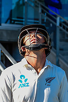 Tim Southee of the Black Caps before start of play. Day 3 of the Second International Cricket Test match, New Zealand V England, Hagley Oval, Christchurch, New Zealand, 1st April 2018.Copyright photo: John Davidson / www.photosport.nz