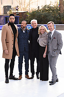 Ashley Banjo, Jason Gardiner, Phillip Schofield, Jayne Torvill &amp; Christopher Dean at the &quot;Dancing on Ice&quot; launch photocall at the Natural History Museum, London, UK. <br /> 19 December  2017<br /> Picture: Steve Vas/Featureflash/SilverHub 0208 004 5359 sales@silverhubmedia.com