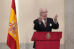 Awarded photographer Alberto Schommer gives a speech during the National Culture Awards ceremony at El Pardo Palace in Madrid, Spain. February 16, 2015. (ALTERPHOTOS/Victor Blanco)