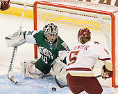 Lindsay Holdcroft (Dartmouth - 30), Alex Carpenter (BC - 5) - The Boston College Eagles defeated the Dartmouth College Big Green 4-3 on Sunday, October 23, 2011, at Kelley Rink in Conte Forum in Chestnut Hill, Massachusetts.