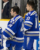 Billy Christopoulos (AFA - 44), Jordan Himley (AFA - 10) - The Harvard University Crimson defeated the Air Force Academy Falcons 3-2 in the NCAA East Regional final on Saturday, March 25, 2017, at the Dunkin' Donuts Center in Providence, Rhode Island.