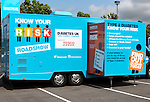 Diabetes Roadshow vehicle Tesco carpark, Ebbw Vale, Blaenau Gwent, South Wales, UK
