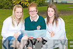 PAPER: In a relaxing mood leaving cert student from Community College, Killorglin on Wednesday, l-r: Elaine Sweeney (Killorglin), Veronika vargova (carrig Lake) and lea Griffin (Killorglin).....