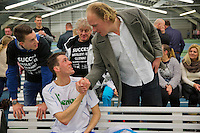 Januari 24, 2015, Rotterdam, ABNAMRO, Supermatch, Wesley Visser is congratulated by his fans<br /> Photo: Tennisimages/Henk Koster