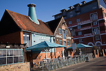 Isaac Lord pub and Salthouse Harbour Hotel, Ipswich waterfront, England