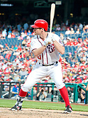 Washington Nationals second baseman Daniel Murphy (20) bats in the seventh inning against the New York Mets at Nationals Park in Washington, D.C. on Sunday, April 30, 2017.  The Nationals won the game 23 - 5.<br /> Credit: Ron Sachs / CNP
