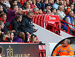 Chris Wilder manager of Sheffield Utd in the stands during the Championship match at Bramall Lane Stadium, Sheffield. Picture date 16th September 2017. Picture credit should read: Jamie Tyerman/Sportimage