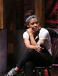 """Sasha Hollinger from the 'Hamilton' cast during the Q&A before The Rockefeller Foundation and The Gilder Lehrman Institute of American History sponsored High School student #EduHam matinee performance of """"Hamilton"""" at the Richard Rodgers Theatre on June 7, 2017 in New York City."""