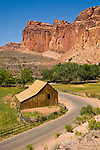 Historic Gifford farm barn at Fruita, Capitol Reef National Park, Utah