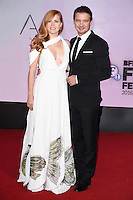 LONDON, UK. October 10, 2016: Amy Adams &amp; Jeremy Renner at the London Film Festival 2016 premiere of &quot;Arrival&quot; at the Odeon Leicester Square, London.<br /> Picture: Steve Vas/Featureflash/SilverHub 0208 004 5359/ 07711 972644 Editors@silverhubmedia.com