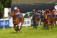 Winner of The Penang Turf Club Malaysia Handicap (Class 5)  Beyond Equal ridden by David Egan and trained by Stuart Kittow  during Afternoon Racing at Salisbury Racecourse on 17th May 2018
