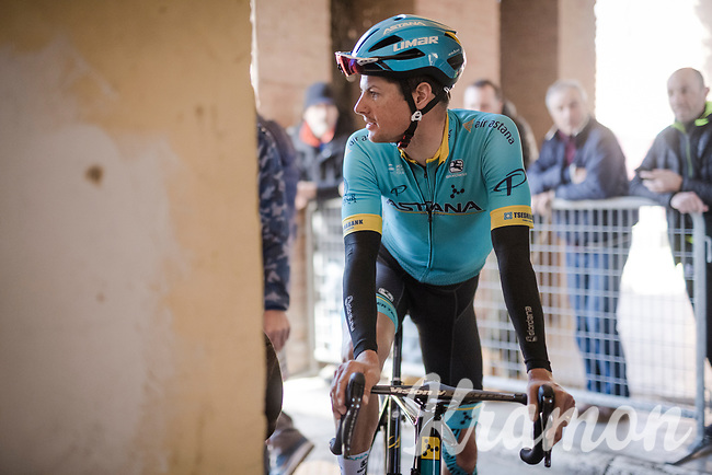 Jakob FUGLSANG (DEN/Astana) pre-race<br /> <br /> 13th Strade Bianche 2019 (1.UWT)<br /> One day race from Siena to Siena (184km)<br /> <br /> ©kramon