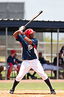 Estarlin Martinez of the Gulf Coast League Nationals during the game against the Gulf Coast League Mets June 27 2010 at the Washington Nationals complex in Viera, Florida.  Photo By Scott Jontes/Four Seam Images