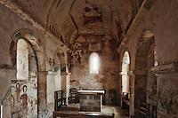 Europe/France/Aquitaine/24/Dordogne/Montferrand-du-Périgord:L'ancienne église Saint-Christophe présente des peintures murales à l'intérieur.