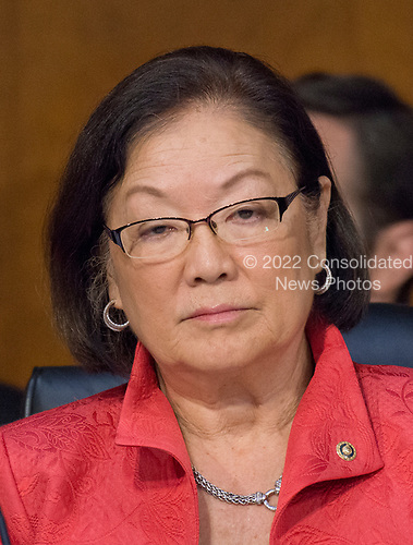 United States Senator Mazie Hirono (Democrat of Hawaii) listens to testimony before the US Senate Committee on the Judiciary Subcommittee on Crime and Terrorism hearing titled &ldquo;Russian Interference in the 2016 United States Election&rdquo; on Capitol Hill in Washington, DC on Monday, May 8, 2017.<br /> Credit: Ron Sachs / CNP<br /> (RESTRICTION: NO New York or New Jersey Newspapers or newspapers within a 75 mile radius of New York City)
