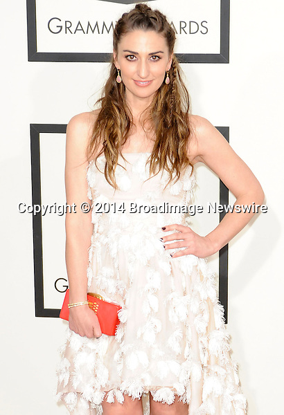 Pictured: Sara Bareilles<br /> Mandatory Credit &copy; Adhemar Sburlati/Broadimage<br /> The Grammy Awards  2014 - Arrivals<br /> <br /> 1/26/14, Los Angeles, California, United States of America<br /> <br /> Broadimage Newswire<br /> Los Angeles 1+  (310) 301-1027<br /> New York      1+  (646) 827-9134<br /> sales@broadimage.com<br /> http://www.broadimage.com