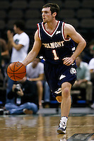 February 03, 2011:    Belmont Bruins guard Drew Hanlen (1) during Atlantic Sun Conference action between the Jacksonville Dolphins and the Belmont Bruins at Veterans Memorial Arena in Jacksonville, Florida.  Belmont defeated Jacksonville 76-70.