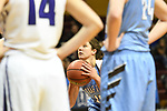 GRAND RAPIDS, MI - MARCH 18: Katy Hicks (31) of Tufts University attempts a free throw during the Division III Women's Basketball Championship held at Van Noord Arena on March 18, 2017 in Grand Rapids, Michigan. Amherst defeated 52-29 for the national title. (Photo by Brady Kenniston/NCAA Photos via Getty Images)