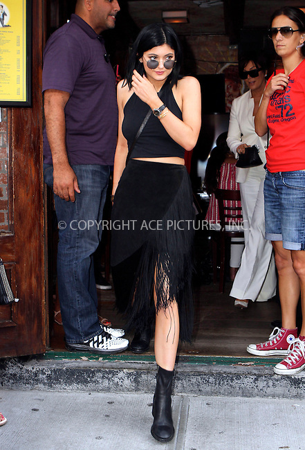 ACEPIXS.COM<br /> <br /> <br /> June 27 2014, New York City<br /> <br /> Kylie Jenner out in the Meat Packing District on June 27 2014 in New York City<br /> <br /> <br /> By Line: Nancy Rivera/ACE Pictures<br /> <br /> ACE Pictures, Inc.<br /> www.acepixs.com<br /> Email: info@acepixs.com<br /> Tel: 646 769 0430