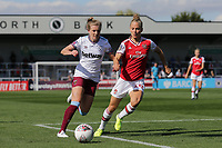 Leonie Maier of Arsenal and Kate Longhurst of West Ham during Arsenal Women vs West Ham United Women, Barclays FA Women's Super League Football at Meadow Park on 8th September 2019