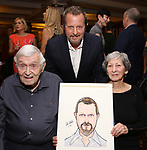 Rob Ashford with his parents during the Rob Ashford portrait unveiling for the Sardi's Wall of Fame on October 10, 2018 at Sardi's Restaurant in New York City.