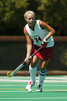 2 September 2005: Lyndsay Erickson during Stanford's 3-1 loss to the University of Iowa at the Varsity Turf Field in Stanford, CA.