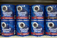 Maxwell house coffee products are seen in a Metro grocery store in Quebec city March 4, 2009. Maxwell House is a brand of coffee manufactured by a like-named division of Kraft Foods