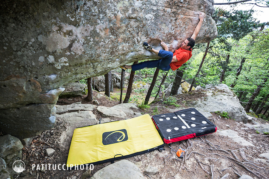 Bouldering at Annot, France