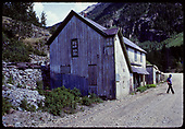 One-time Oilton Saloon building near Ophir station on RGS.<br /> Ophir, CO  ca. 1976