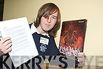 GOING GOTHIC: Student Sally O'Rourke from Presentation Secondary School, Tralee has a business plan to create a website with a range of gothic clothes and CD's.   Copyright Kerry's Eye 2008