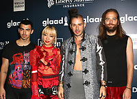 www.acepixs.com<br /> <br /> May 6, 2017 New York City<br /> <br /> Members of DNCE Joe Jonas, JinJoo Lee, Cole Whittle and Jack Lawles arriving at the GLAAD Media Awards on May 6, 2017 in New York City.<br /> <br /> By Line: Nancy Rivera/ACE Pictures<br /> <br /> <br /> ACE Pictures Inc<br /> Tel: 6467670430<br /> Email: info@acepixs.com<br /> www.acepixs.com