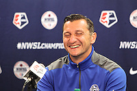 Portland, OR - Wednesday September 30, 2015: FC Kansas City Press Conference at Providence Park prior to the NWSL Championship Game.