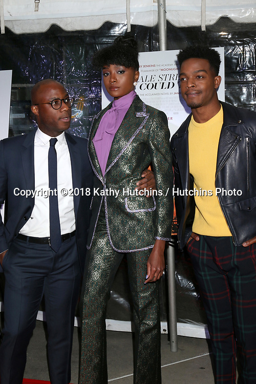 "LOS ANGELES - DEC 4:  Barry Jenkins, Kiki Layne, Stephan James at the ""If Beale Street Could Talk"" Screening at the ArcLight Hollywood on December 4, 2018 in Los Angeles, CA"