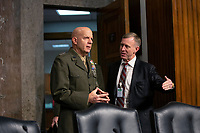Commandant of the Marine Corps General David Berger arrives to testify before the United States Senate Committee on Armed Services at the U.S. Capitol in Washington D.C., U.S., on Tuesday, December 3, 2019.  The panel discussed reports of substandard housing conditions for U.S. service members. <br /> <br /> Credit: Stefani Reynolds / CNP /MediaPunch