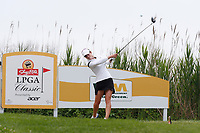Beatriz Recari (Spain) tees off on the third hole during the final round of the ShopRite LPGA Classic presented by Acer, Seaview Bay Club, Galloway, New Jersey, USA. 6/10/18.<br /> Picture: Golffile   Brian Spurlock<br /> <br /> <br /> All photo usage must carry mandatory copyright credit (&copy; Golffile   Brian Spurlock)