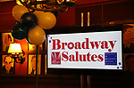 Atmosphere at the Broadway Salutes 10 Years - 2009-2018 at Sardi's on November 13, 2018 in New York City.