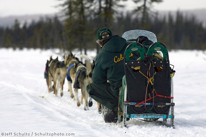 Jeff King on Trail Leaving Kaltag AK WE 2005 Iditarod Winter