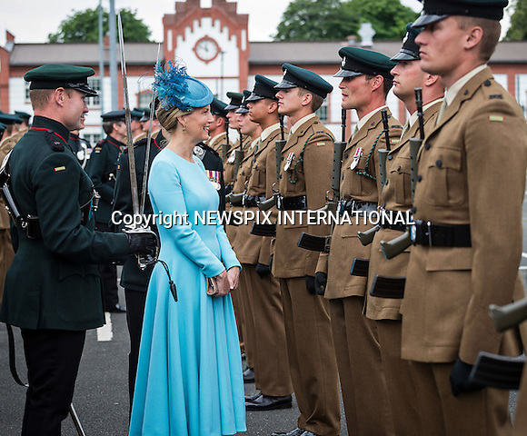 01.07.2016; Paderborn, Germany: SOPHIE, COUNTESS OF WESSEX<br />attends the 5th Battalion The Rifles farewell to Paderborn Germany parade at Alanbrooke Barracks, Paderborn.<br />Mandatory Photo Credit: &copy;MoD/NEWSPIX INTERNATIONAL<br /><br />IMMEDIATE CONFIRMATION OF USAGE REQUIRED:<br />Newspix International, 31 Chinnery Hill, Bishop's Stortford, ENGLAND CM23 3PS<br />Tel:+441279 324672  ; Fax: +441279656877<br />Mobile:  07775681153<br />e-mail: info@newspixinternational.co.uk<br />Please refer to usage terms. All Fees Payable To Newspix International