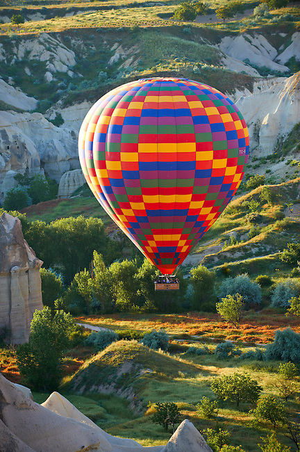 Hot Air Baloons over the Love Valley , Cappadocia Turkey