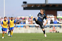 San Jose, CA - Sunday October 21, 2018: Tommy Thompson during a Major League Soccer (MLS) match between the San Jose Earthquakes and the Colorado Rapids at Avaya Stadium.