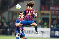 MILANO 28 MARZO 2012, MILAN - BARCELLONA,QUARTI DI FINALE UEFA CHAMPIONS LEAGUE 2011 - 2012, NELLA FOTO:PUYOL , FOTO DI ROBERTO TOGNONI.