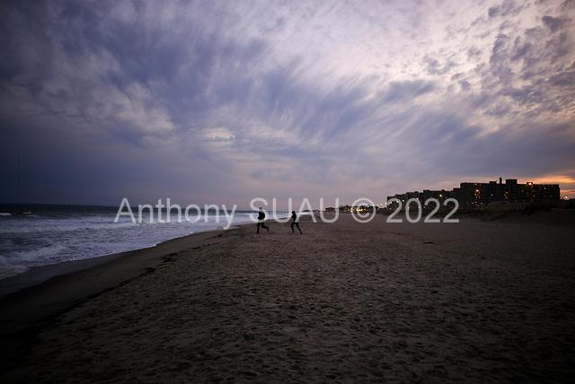 Queens, New York<br /> April 25, 2020<br /> Rockaway Beach<br /> <br /> Empty Rockaway Beach during the coronavirus epidemic in New York City.