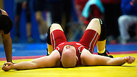 11 MAY 2014 - SHEFFIELD, GBR - Mark Cocker after a 97kg category freestyle match at the British 2014 Senior Wrestling Championships at EIS in Sheffield, Great Britain (PHOTO COPYRIGHT © 2014 NIGEL FARROW, ALL RIGHTS RESERVED)
