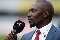 Owen Nkumane Supersport rugby commentator during the Vodacom Super Rugby match between the Cell C Sharks and the Emirates Lions the at Growthpoint Kings Park in Durban, South Africa. 15th July 2017(Photo by Steve Haag)