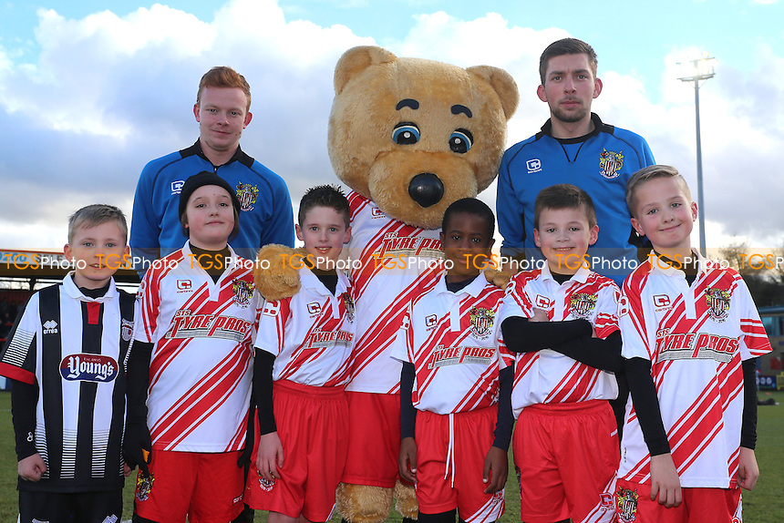 Mascots and  Boro Bear during Stevenage vs Grimsby Town, Sky Bet EFL League 2 Football at the Lamex Stadium on 28th January 2017