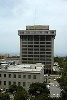 Vista general del Banco Central de Santo Domingo, República Dominicana hoy, lunes 20 de julio de 2009.  Según datos de la institución financiera en el primer semestre del año 2009 la economía dominicana a pesar de la crisis financiera que arropa al mundo, presentó un crecimiento económico de 1.4% (1.0% en el primer trimestre del año y 1.8% en el segundo trimestre..Santo Domingo, República Dominicana.Foto : © Roberto Guzman