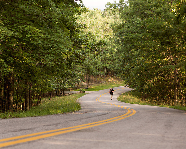 June 30, 2016. Blacksburg, Virginia. <br />  An avid runner, Marc Edwards runs approximately 40 miles a week on the trails and roads surrounding his home outside Blacksburg, VA. Every other day he finishes his runs by running up and down the hill outside his house 8 times.<br /> Marc Edwards is a civil engineering/environmental engineer and the Charles P. Lunsford Professor of Civil and Environmental Engineering at Virginia Tech. He is an expert in water quality and corrosion, and his work in Washington DC  and in Flint, Michigan helped to expose high levels of lead contamination in the water supplies of those two cities, triggering investigations into the cause of the pollution.